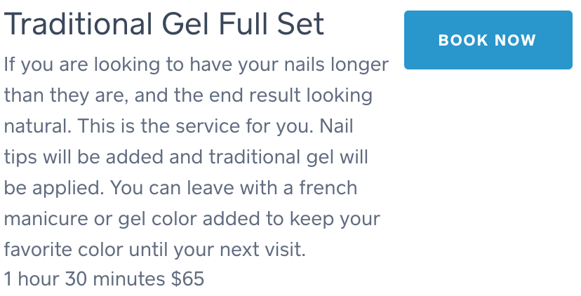 Traditional Gel Full Set