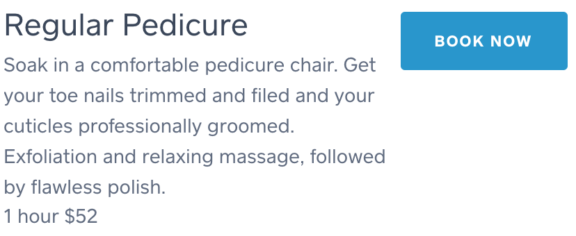 Regulare Pedicure